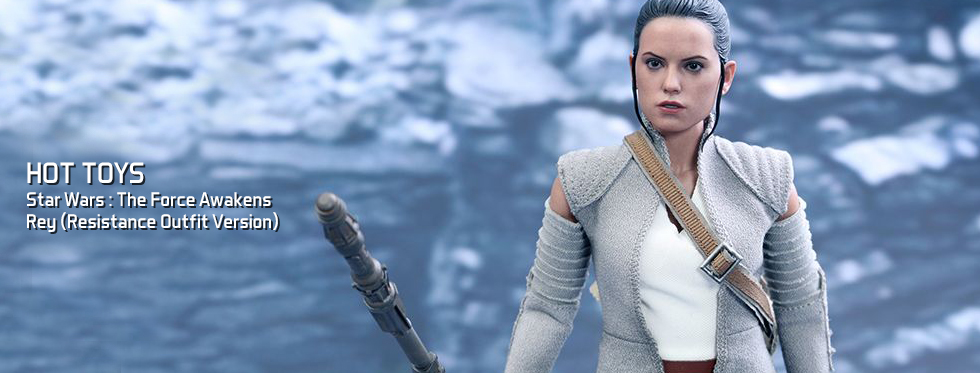 figurine Star Wars : The Force Awakens - Rey (Resistance Outfit Version)