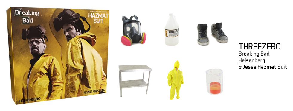 figurine Breaking Bad - Heisenberg & Jesse Hazmat Suit