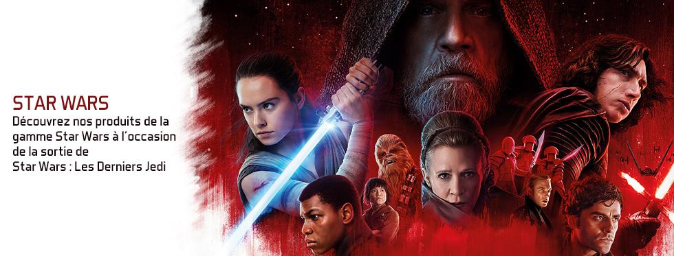 figurine Découvrez notre gamme Star Wars à l'occasion de la sortie de Star Wars : Les Derniers Jedi !
