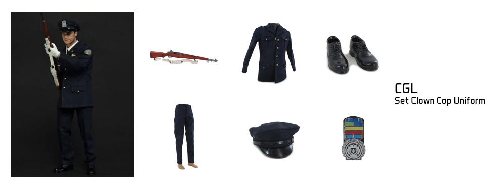 figurine Set Clown Cop Uniform