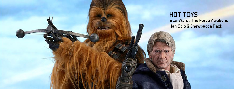 figurine Star Wars : The Force Awakens - Han Solo & Chewbacca Pack