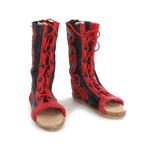 Bottes de parade Calcei en cuir (Rouge)