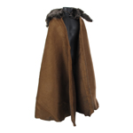 Roman General Cape with Fur Collar (Brown)