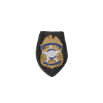 Diecast Secret Service Badge (Gold)