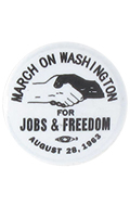 Diecast March On Washington Badge (White)