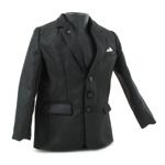 Veste de costume forte corpulence (Noir)