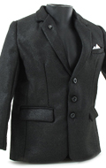 Large Size Suit Jacket (Black)