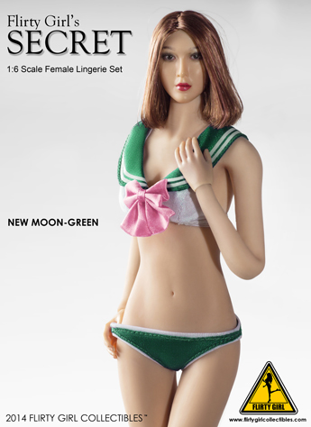 Set lingerie Secret New Moon Femme (Vert)