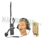 MBITR radio w/ comtac II headset & pouch coyote