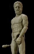 Hercules Statue (Marble-like Version)