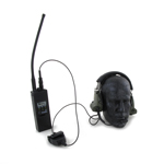Radio AN/PRC 148 avec casque écouteur Peltor COMTAC II (Noir)