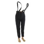 Pantalon à pont avec bretelles (Noir)