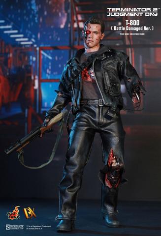 Hot Toys DX13 Terminator 2 T800 Battle Damaged 1//6 Scale Black Boots Shoes NEW