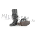 Leather russian black boots Sapogi
