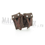 Russian brown leather Mosin-Nagant Ammo Pouches (sold by one)