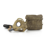 M1917 Respirator Gas Mask with canvas haversack weathered