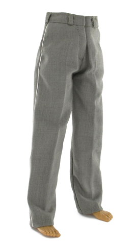 Elite Officer Earth-Grey Trousers with White Piping