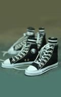 Black Converse canvas with socks