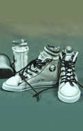 Set chaussures Converse (Blanc)