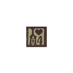 Patch I Love M4 (Marron)