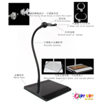 Display Stand tige mobile 45cm (Noir)