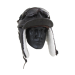 Japanese Flying Helmet with Flying Goggles (Brown)