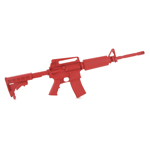 M4 extended stock M4 blue gun training carbine red