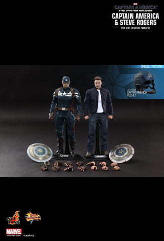 Captain America : The Winter Soldier - Captain America & Steve Rogers Set