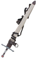 Diecast Knight Sword with Sheath (White)