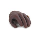 Gloved Left Hand with Ring (Brown)
