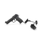 M9 Beretta Pistol with Lanyard (Black)