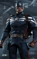 Captain America: The Winter Soldier - Captain America Stealth S.T.R.I.K.E. Suit (Sans boite)