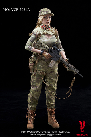 Female Shooter (Camouflage)