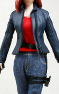 Female Agent Plainclothes Leather Dress Suit