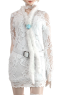 Woman Lace clothes set (White)