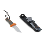 Survival Knife with Pouch (Grey)
