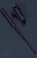 Telescopic Baton with Holder (Black)
