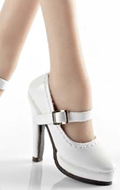 Female Oktober Girl Heeled Shoes (White)