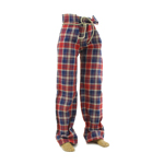 Plaid Pants (Red)