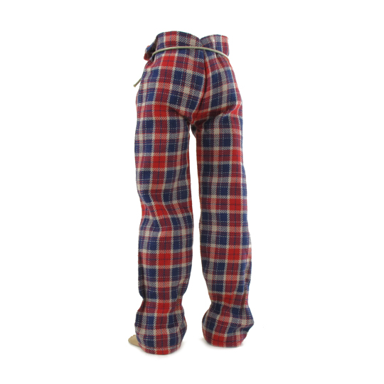 Pantalon à carreaux (Rouge)