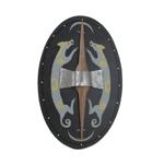 Bouclier celtique (Noir)