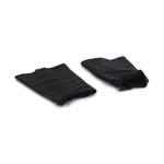 Paire de hauts de chaussettes (Noir) (Très grande taille)