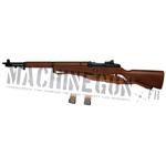 Fusil garand M1 avec bretelle cuir M1907 + clips metal