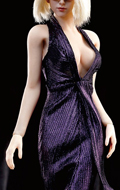 Monroe Female Dress Suit Set (Purple)