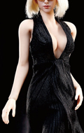 Monroe Female Dress Suit Set (Black)