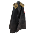 Templar Knight Cape with Fur Collar (Black)