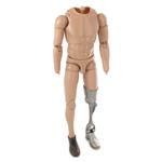 Corps homme européen avec jambe méchanique
