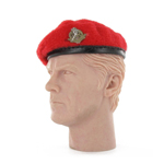 Béret Rouge avec insigne Royal Military Police