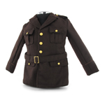 Coat Service Officer's OD dark elastique