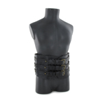 Leather Abdomen Belt (Black)